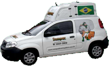 Carro da empresa Sampex Desentupidora e Dedetizadora