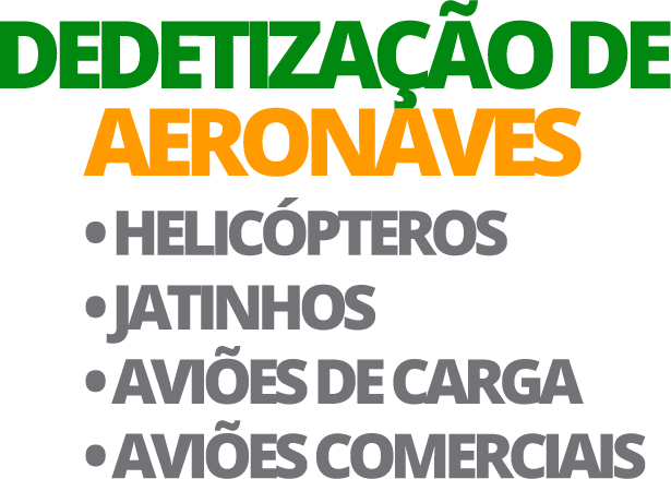 Dedetizacao de Helicópteros-Jatinhos-Aviões-de-Carga-Aviões-Comerciais