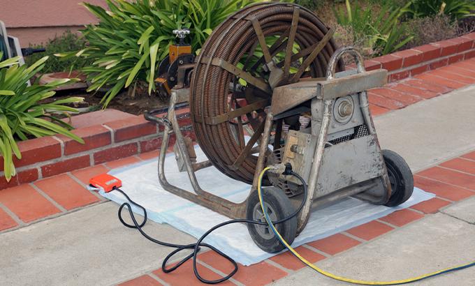 Maquinário da Desentupidora Sampex para realizar o serviço de desentupimento